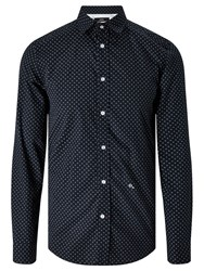 Diesel S Blanca Long Sleeve Floral Print Shirt Peacoat Blue