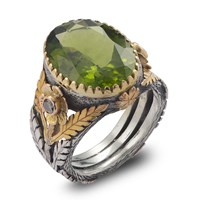 Emma Chapman Jewels Orisha Peridot And Diamond Ring Green