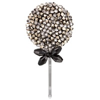 Jane Tran Multi Crystal Hair Slide Pewter