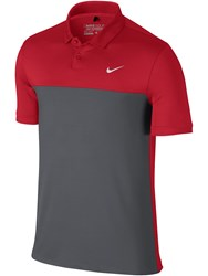 Nike Men's Golf Icon Color Block Polo Red