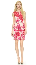 Notte By Marchesa Embroidered Cocktail Dress Fuchsia