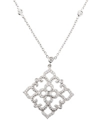 Penny Preville Beaded Diamond Lace Pendant Necklace