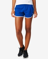 Adidas M10 Climalite Woven Running Shorts Collegiate Royal