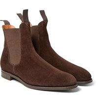 Edward Green Newmarket Suede Chelsea Boots Brown