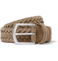 Andersons 3.5Cm Light Brown Woven Suede Belt