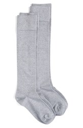 Nordstrom Women's Knee High Socks Grey Pearl Heather