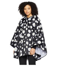 Collection Xiix Daisy Rain Poncho Black Clothing