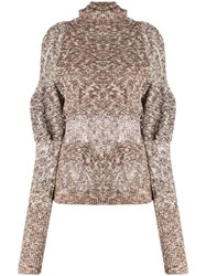 Christophe Lemaire Distressed Detail Sweater Neutrals