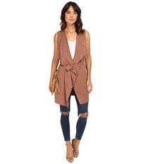 Only Alexis Sleeveless Woven Vest Cognac Women's Vest Tan