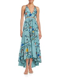 Tracy Reese Silk Tiered Maxi Dress