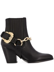 Versace Jeans Couture Buckle Embellished Ankle Boots 60