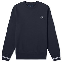 Fred Perry Authentic Crew Sweat Blue