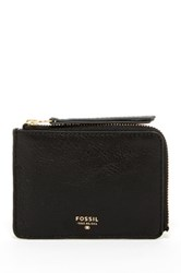 Fossil Sydney Zip Coin Leather Pouch Black