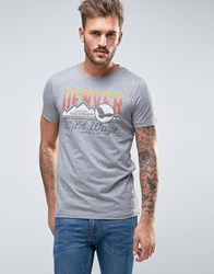 Jack And Jones Vintage T Shirt With Vintage Graphic Light Grey Melange