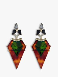 Ted Baker Mirlena Arrow Drop Earrings Dark Tortoise Green