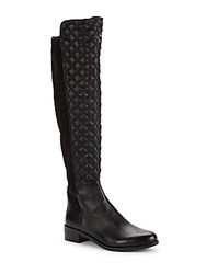 Vince Camuto Justina Quilted Leather Boots Black