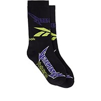 Vetements Logo Colorblocked Cotton Blend Mid Calf Socks Black