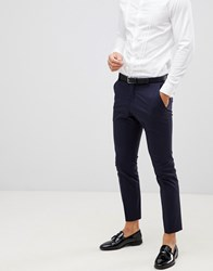 Selected Homme Navy Tuxedo Suit Trouser With Satin Lapel In Slim Fit Navy Blazer