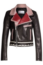 Red Valentino Leather Jacket Multicolor