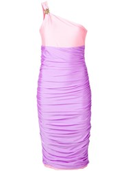 Fausto Puglisi Colour Block Party Dress Pink