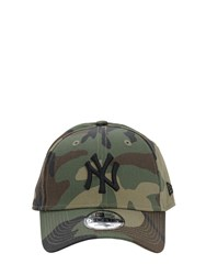 New Era League Essential Ny Cotton Baseball Hat Green