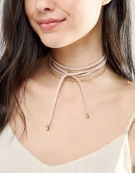 Johnny Loves Rosie Layered Tie Up Choker Gold