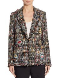 Edward Achour Tweed Patch Jacket Black