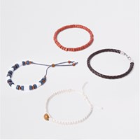 River Island Blue Bead And Woven Bracelet Pack