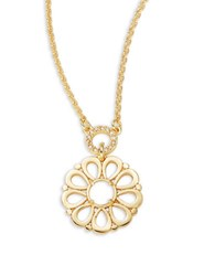 Kate Spade Floral Pendant Necklace Gold