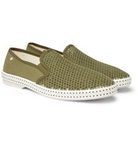 Rivieras Cotton Mesh And Canvas Espadrilles Green