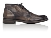 John Varvatos Varick Leather Chukka Boots Charcoal