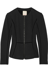 Rebecca Taylor Textured Knit Blazer Black