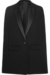 Dkny Satin Trimmed Wool Cape