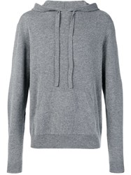 Zadig And Voltaire Knitted Hoodie Grey