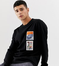 f4348cc5 Noak Relaxed Fit Long Sleeve T Shirt With Patches Black
