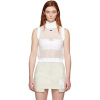 Off White Cropped Tank Top