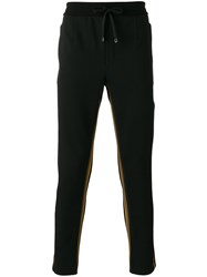 Dolce And Gabbana Side Panel Drawstring Trousers Black