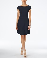 Armani Exchange Boat Neck A Line Dress A Macy's Exclusive Style Navy