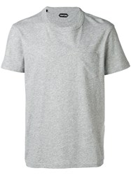 Tom Ford Pocket T Shirt Grey