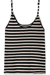 Current Elliott The Twisted Striped Stretch Cotton Jersey Tank Navy