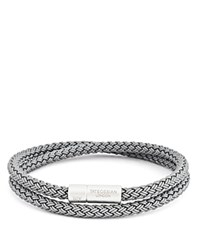 Tateossian Rubber Cable Bracelet Gray