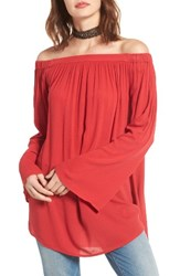 Women's Bp. Off The Shoulder Tunic Red Sage