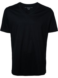 Estnation V Neck T Shirt Black