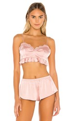 Lovers Friends Indra Bra In Pink. Blush