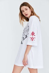 Truly Madly Deeply Tokyo Tiger Tee White