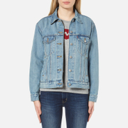 Levi's Women's Ex Boyfriend Trucker Jacket Dream Of Life Blue