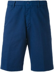 Loro Piana Chino Shorts Men Cotton Spandex Elastane 56 Blue
