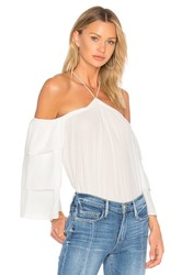 1.State Cold Shoulder Tiered Sleeve Blouse Ivory
