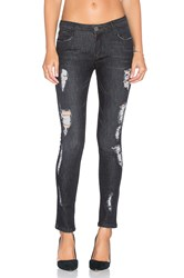 Etienne Marcel Destroyed Ankle Skinny Black