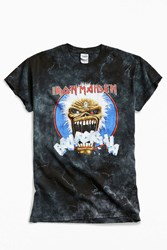 Urban Outfitters Iron Maiden Dyed Metal Tee Black